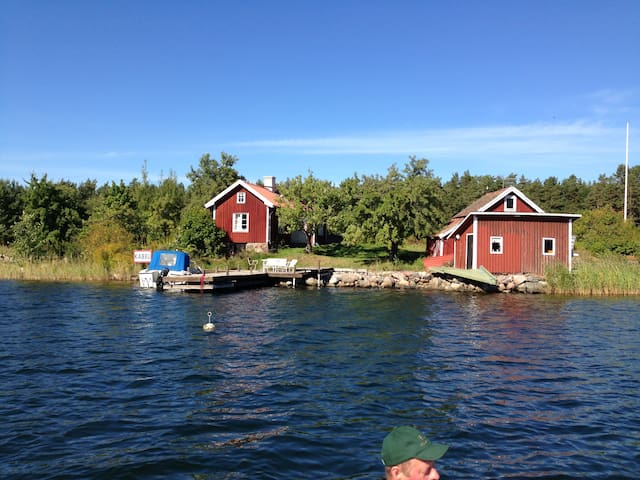 Small house on private island, swedish archipelago