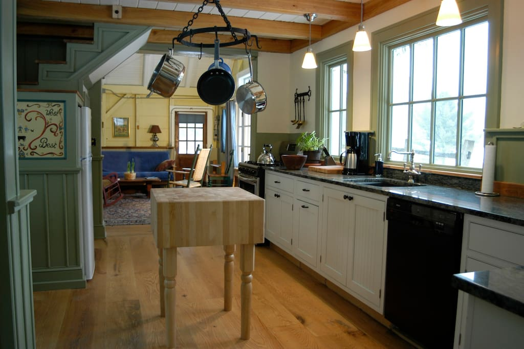 This is Breidablick's  big bold fully  equipped kitchen for three meals a day if you like