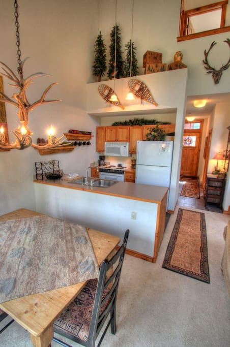 Kitchen - A chef's dream, this large kitchen has every amenity you'll need to cook a hearty feast after a fun day of mountain adventures.