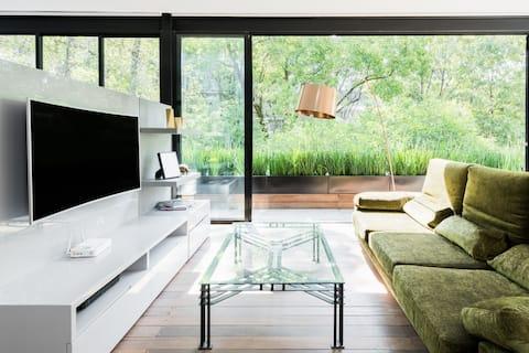 Élvezd a napsütéses reggeleket ebben a városi hangulatú lakásban Condesa szívében