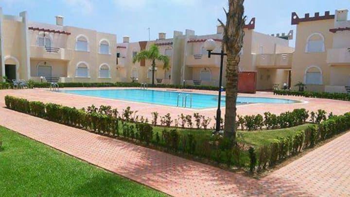 Duplex avec piscine 5 minutes  de la plage