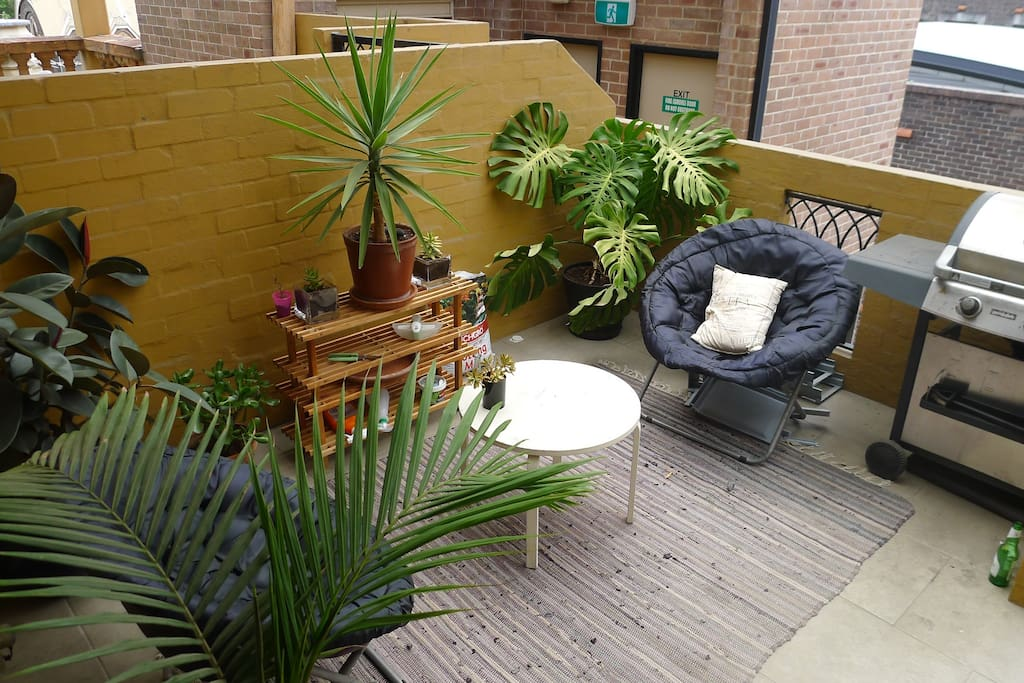 Private outdoor balcony with BBQ