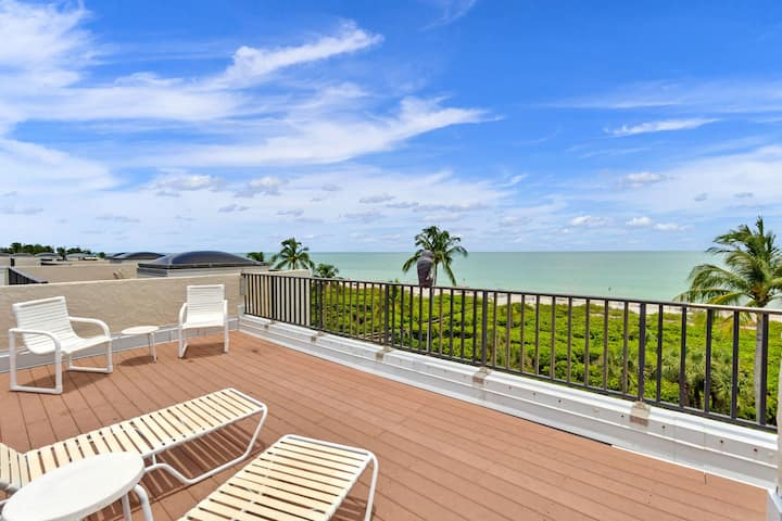 Watch the sunset from your private penthouse deck!