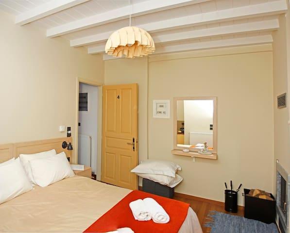 Kazas Luxury   Double Room with fireplace
