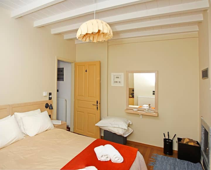 Kazas Luxury | Double Room with fireplace