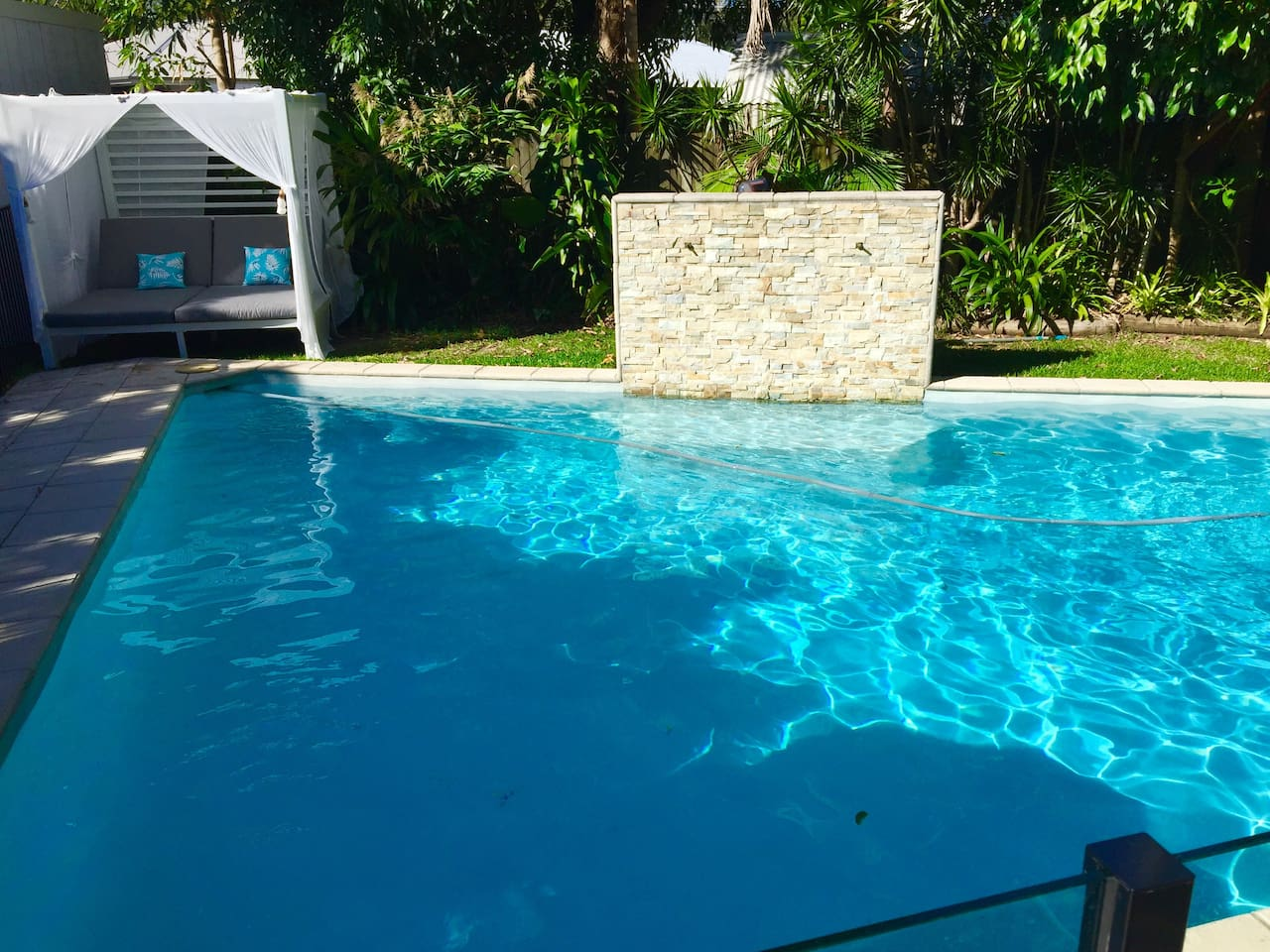 Tiki House features a large pool and entertaining area