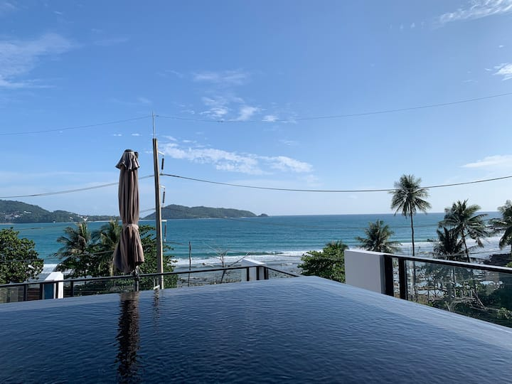 Patong beach 17 bedrooms villa with Seaview  pool