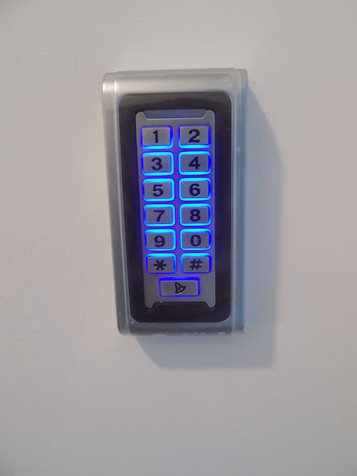 Keypad in which you enter  the code