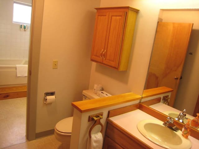 Deluxe Suite with King Size Bed less than 1/2 mile from the Sugarbush Ski Area and Golf Course and including Continental Breakfast
