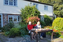 You may like to have breakfast outside in summer - overlooking our valley view.