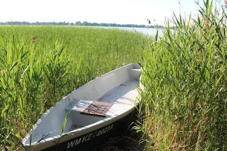 Domek na Mazurach. Jezioro Silec. Mazuren.