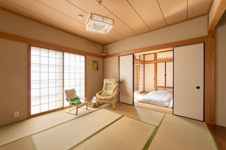 Tatami room - a place to relax, read a book, chat, or unwind