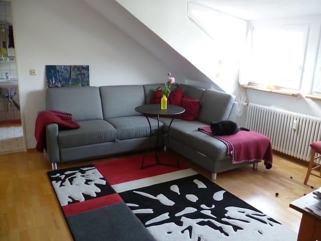 helle gemütliche Dachwohnung - Durach - Apartament