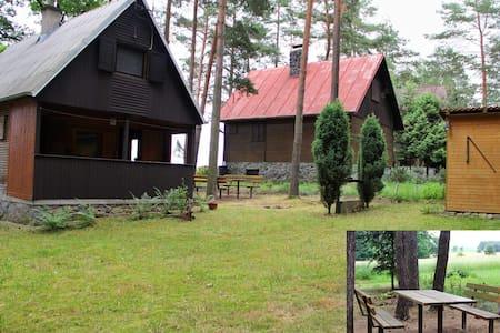 Chata na Dalešické přehradě  - vhodné k rybaření - Koněšín - Skjul