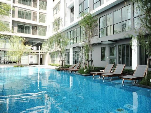 2 Mins to Subway/Central Rama 9, Near Airport Link - Bangkok - Kondominium