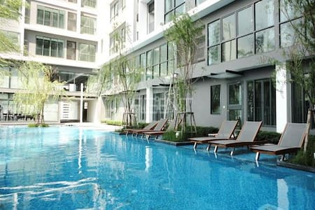 2 Min to MRT Phra Ram 9 / Central Plaza / Fortune - Bangkok