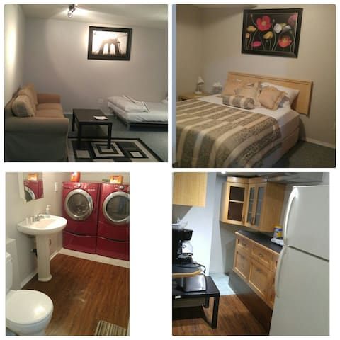 Upscale Basement Suite Near Crowfoot Train Station - Calgary - Apartemen