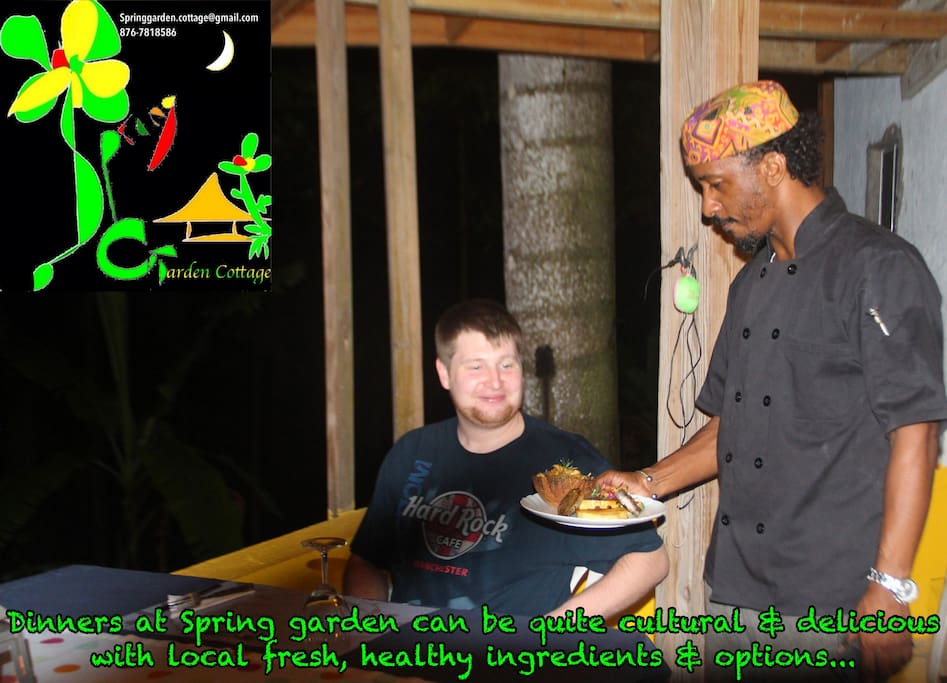 Lukas Grammer from Germany who stayed with us in March 2017 enjoying our special three course dinner at Spring Garden Cottage, more to come stay tuned.