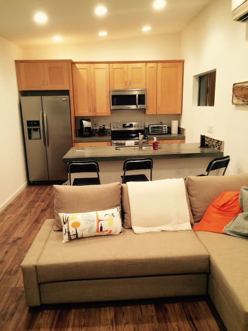 Very spacious living room and Kitchen
