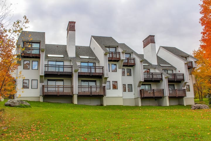 Ski-in/ski-out condo with views & access to a pool, hot tubs, a gym, and tennis!