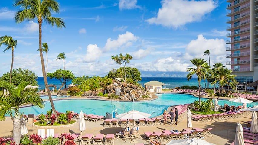 Beautiful MAUI Oceanfront 1 bedroom Beach Resort