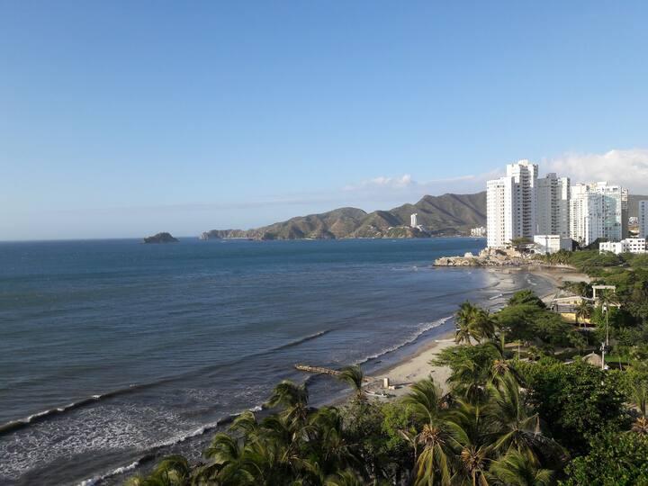 Santa Marta,Moderno apartamento con vista al mar
