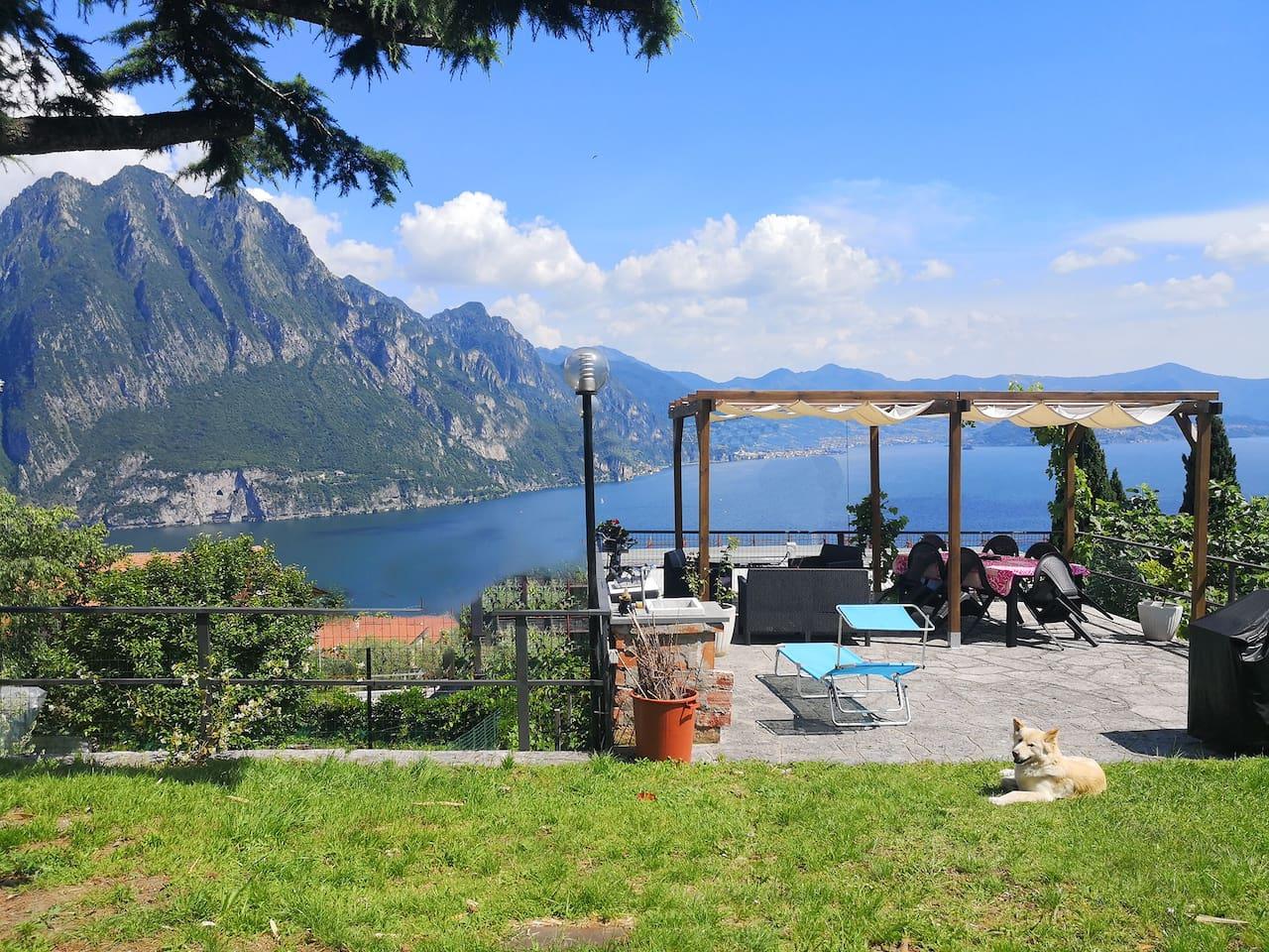 Panoramic terrace on Iseo Lake