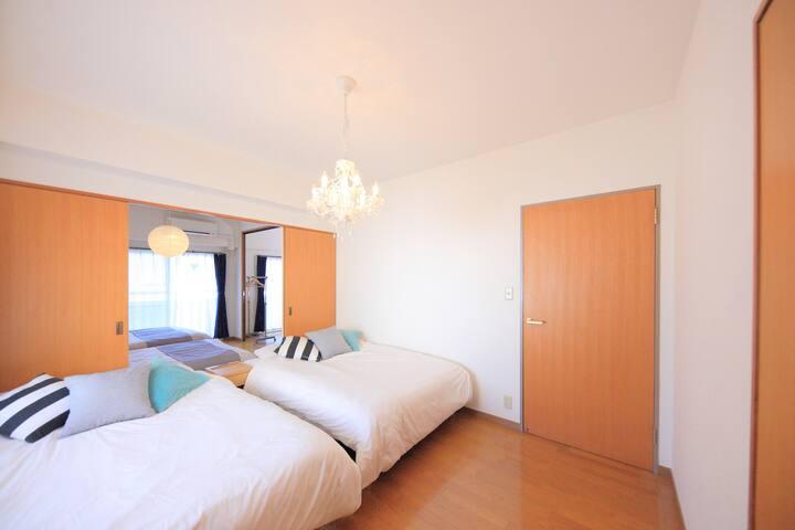 S67-B)Spacious Clean House  3min from Dotonbori!! - Chuo Ward, Osaka - Apartment