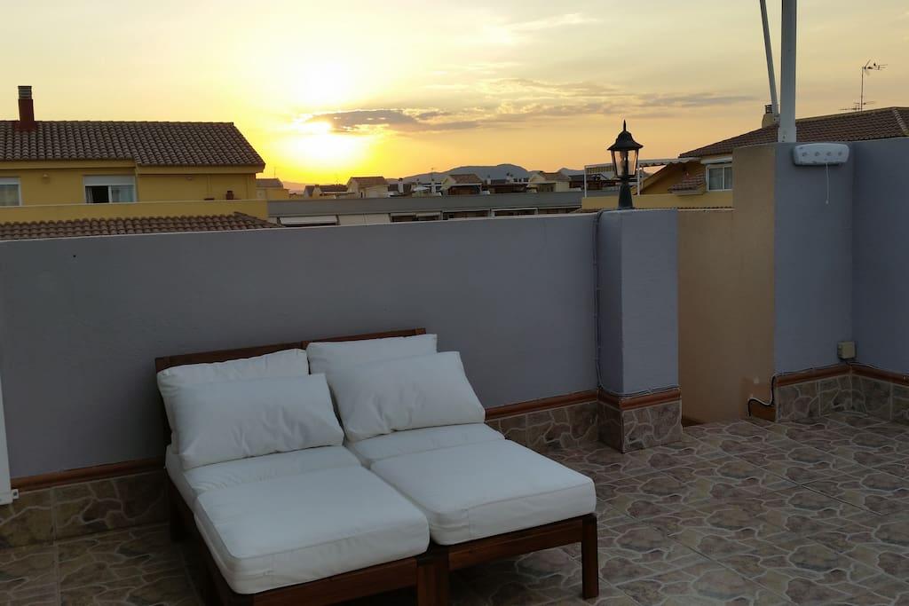 Anochecer desde la terraza