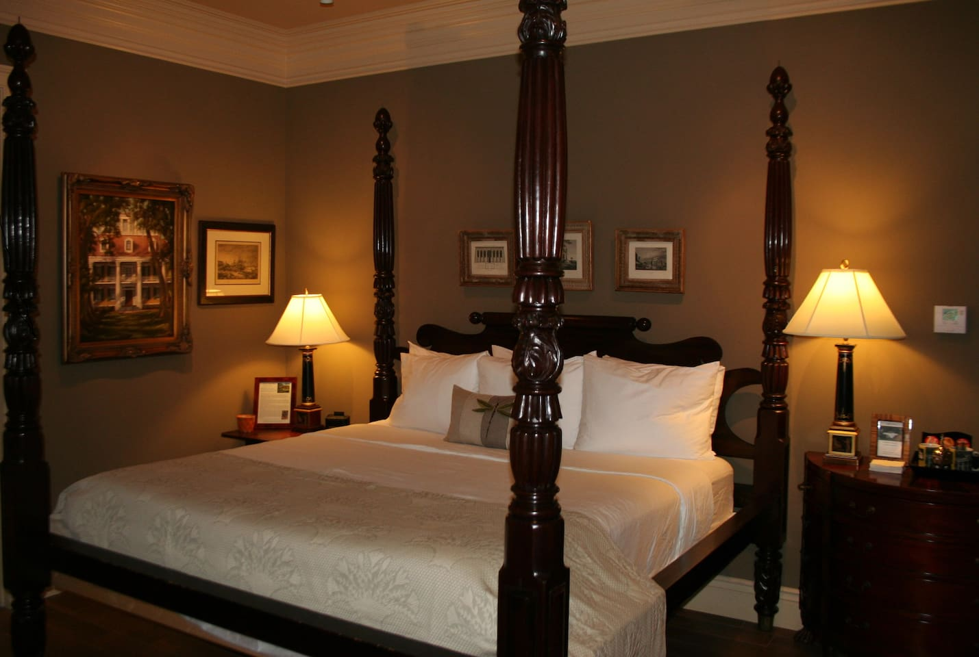 Cozy room with King bed, perfect for a romantic getaway.