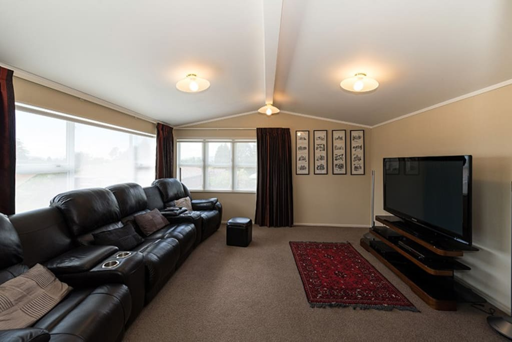 TV Room with large screen TV and MySky