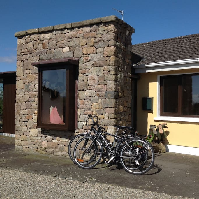 Bikes for use of guests and our boot rack. It sometimes rains in Ireland!