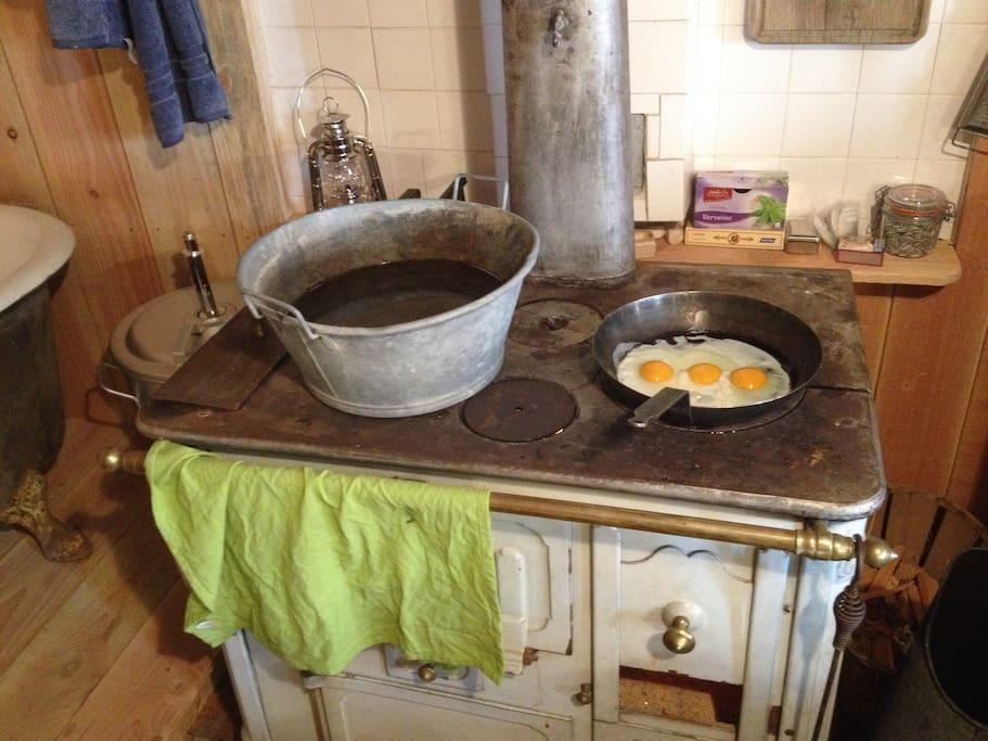 Le plaisir de cuisiner au feu