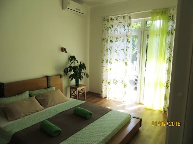 Апартаменты в экостиле , 2 минуты  до моря