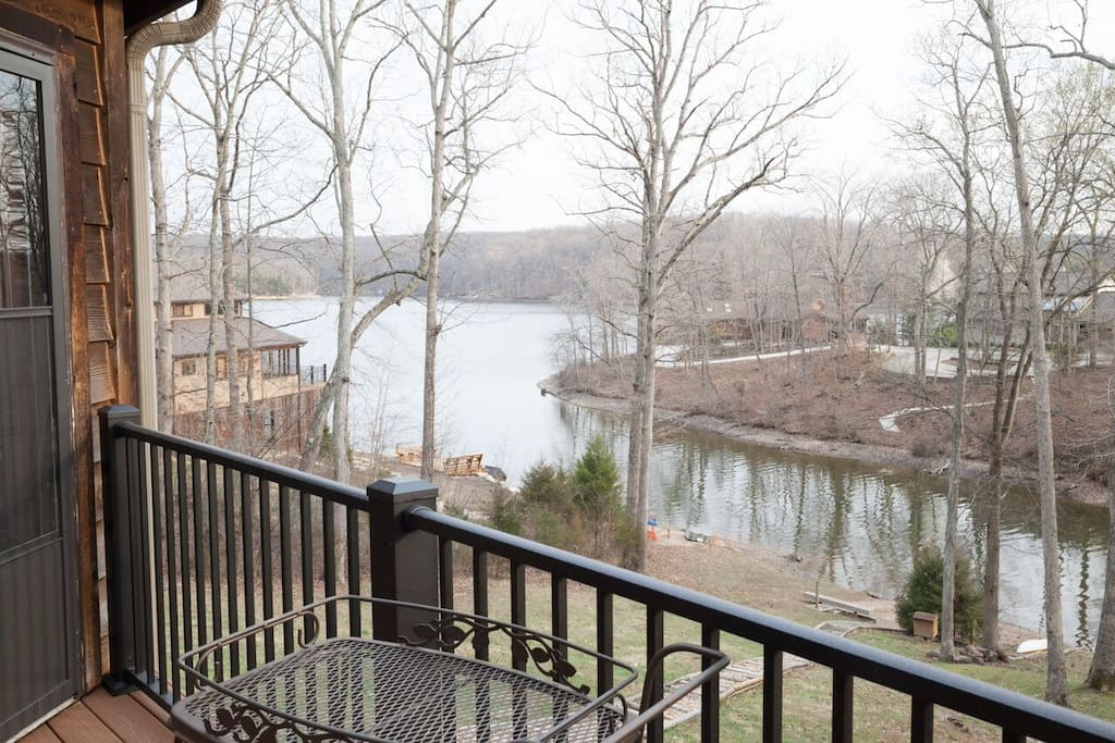 Main deck looking onto lake