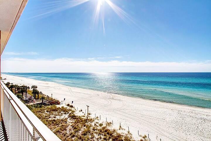 Splash 205W-1BR+Bunks- *Avail 4/16-4/23**Real Joy Fun Pass* Gulf Front!-Balcony - Panama City Beach