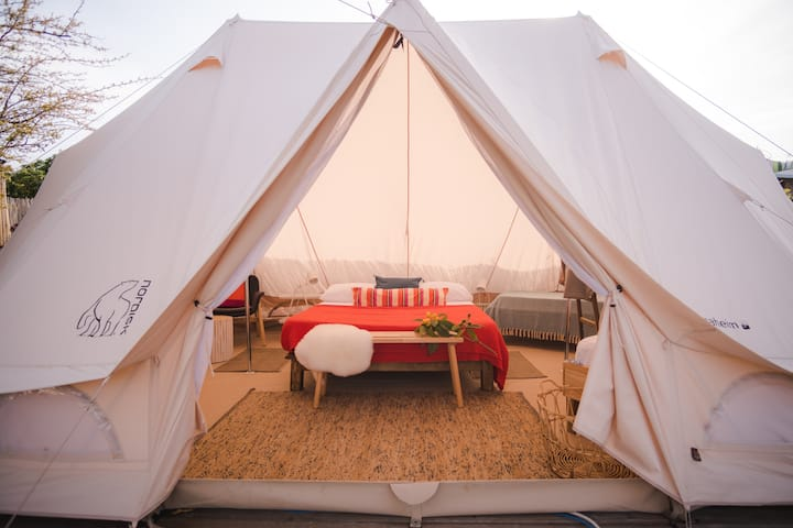 Glamping tent in the heart of the island
