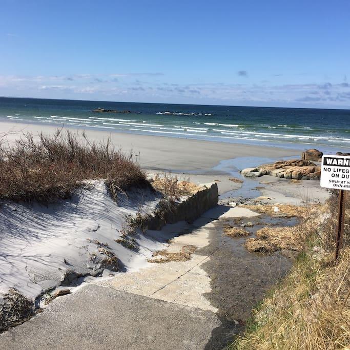 walkway to Coffins Beach