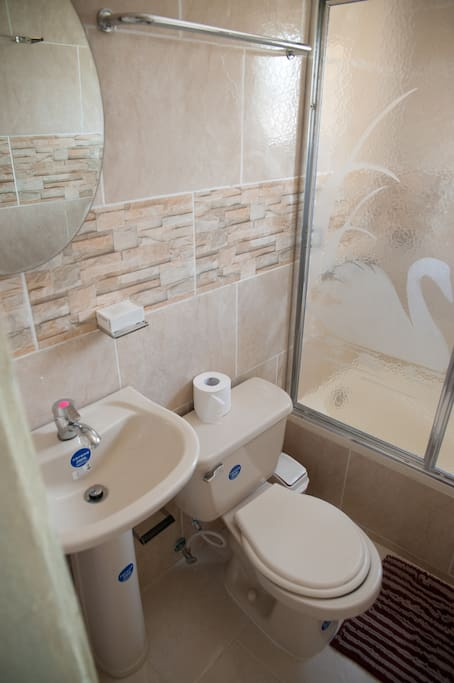 Fully equipped Bathroom includes hot water
