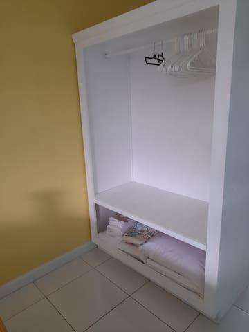 Closet with extra storage