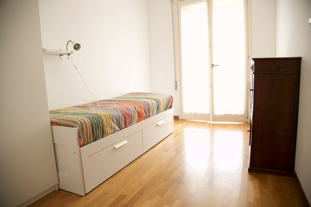 single / double bedroom with terrace