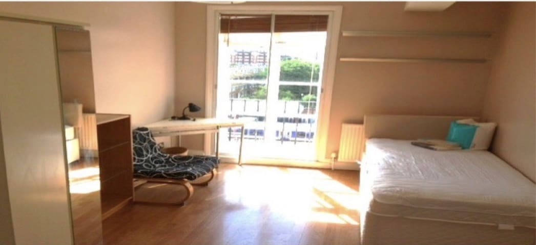 Spacious 1 bed en-suite with plenty of sunlight