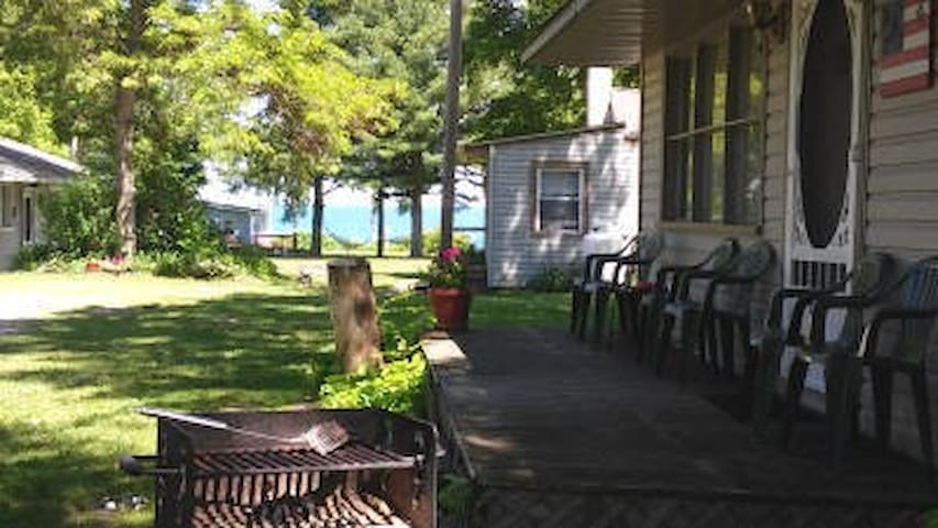 A1 Cottage #4 has a lake view and sleeps 6!