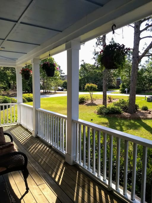 Enjoy a morning cup of coffee on the front porch