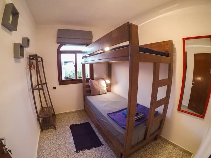Budget Single/Double with Bunk Bed & Shared Bath