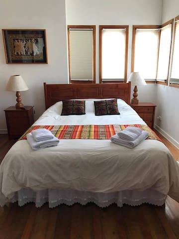 Habitación Matrimonial B&B Sappheiros - Viña del Mar - ที่พักพร้อมอาหารเช้า