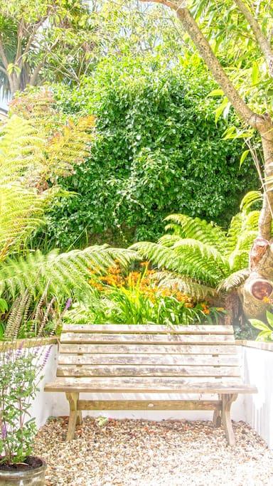 The Garden studio  has  a tranquil garden