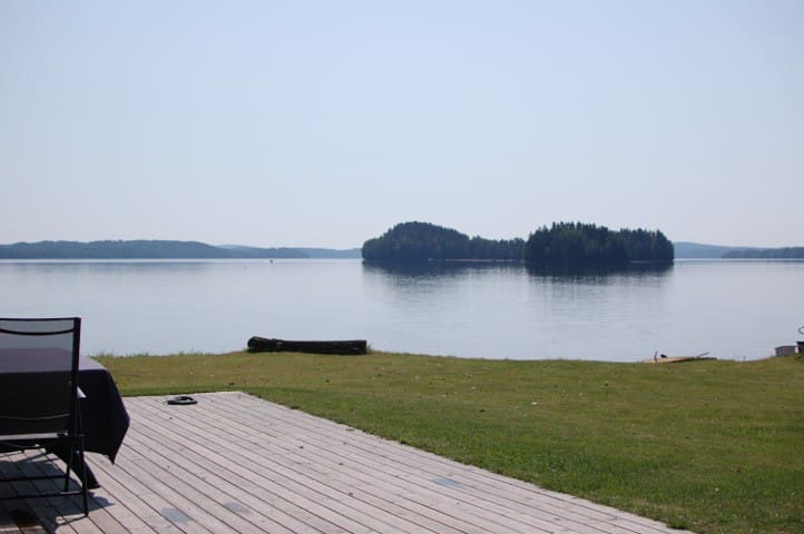 View from the house, looking at Malön (the Island) of the lake Fryken