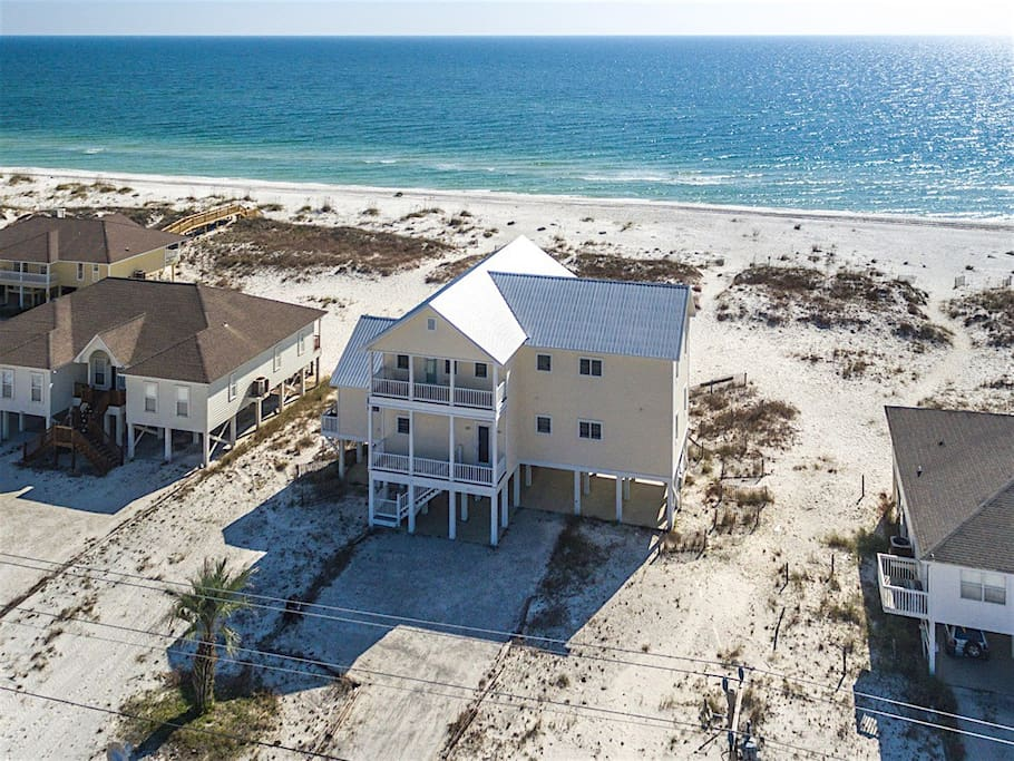 This beachfront home is ideal for extended family and friends.