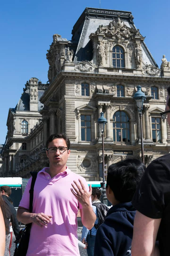 In front of Le Louvre
